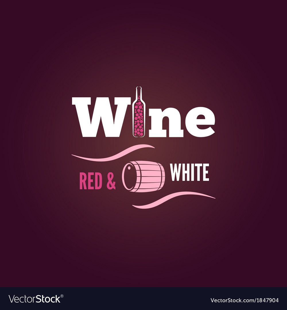 Wine bottle red and white design background vector image