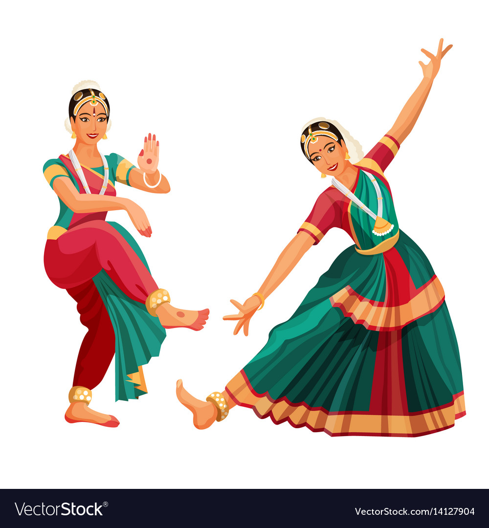 Woman dancer in national indian cloth dancing