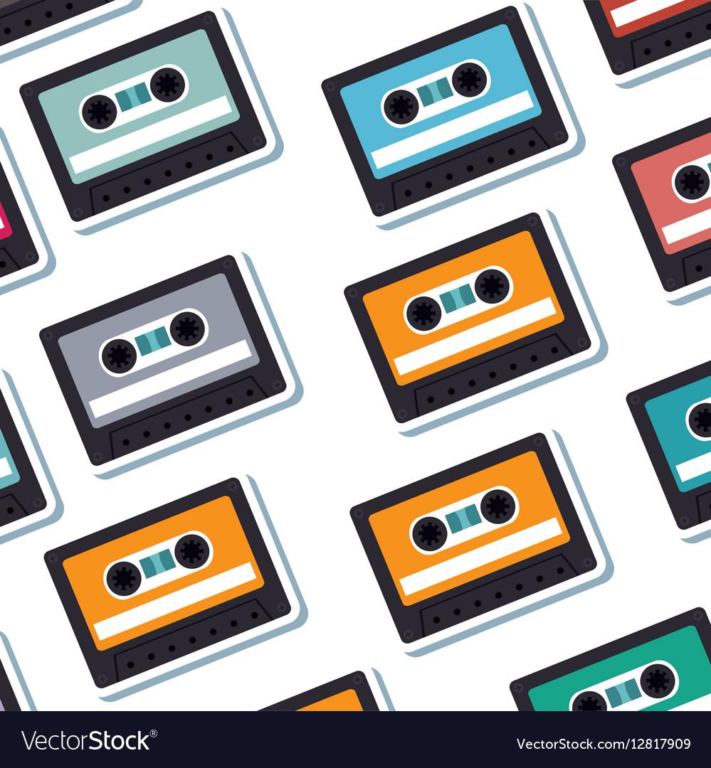 Cassette old music pattern