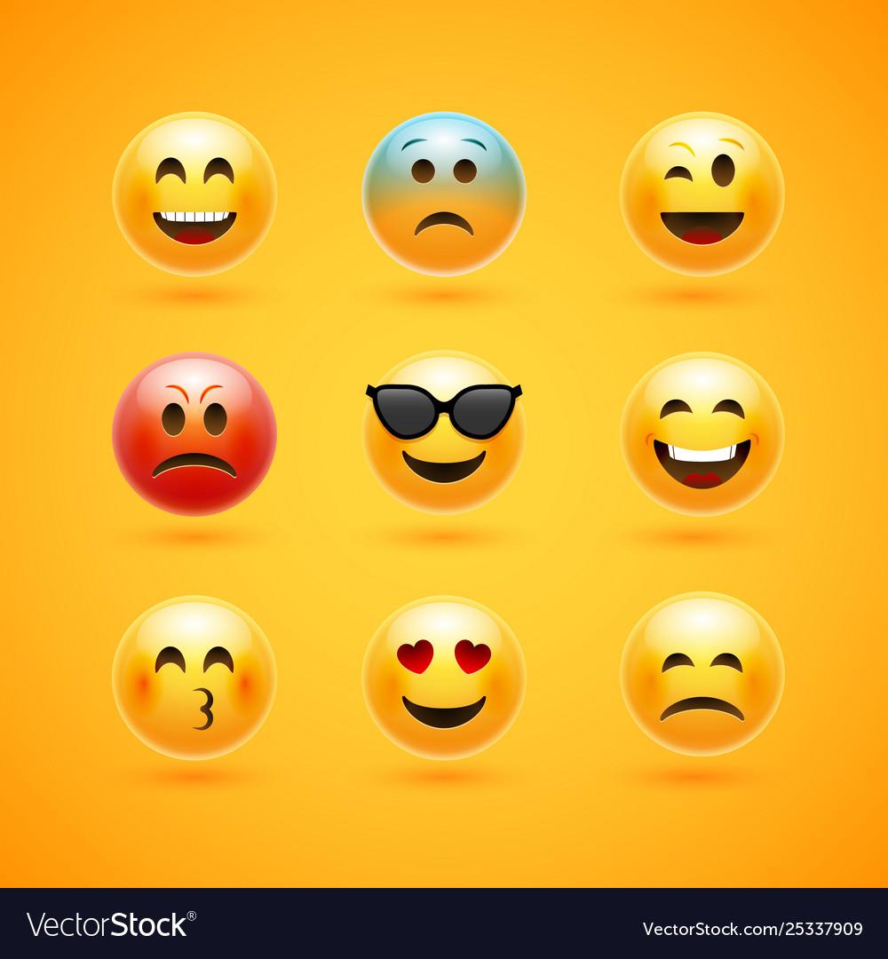 Emoticon face smile icon emotion happy