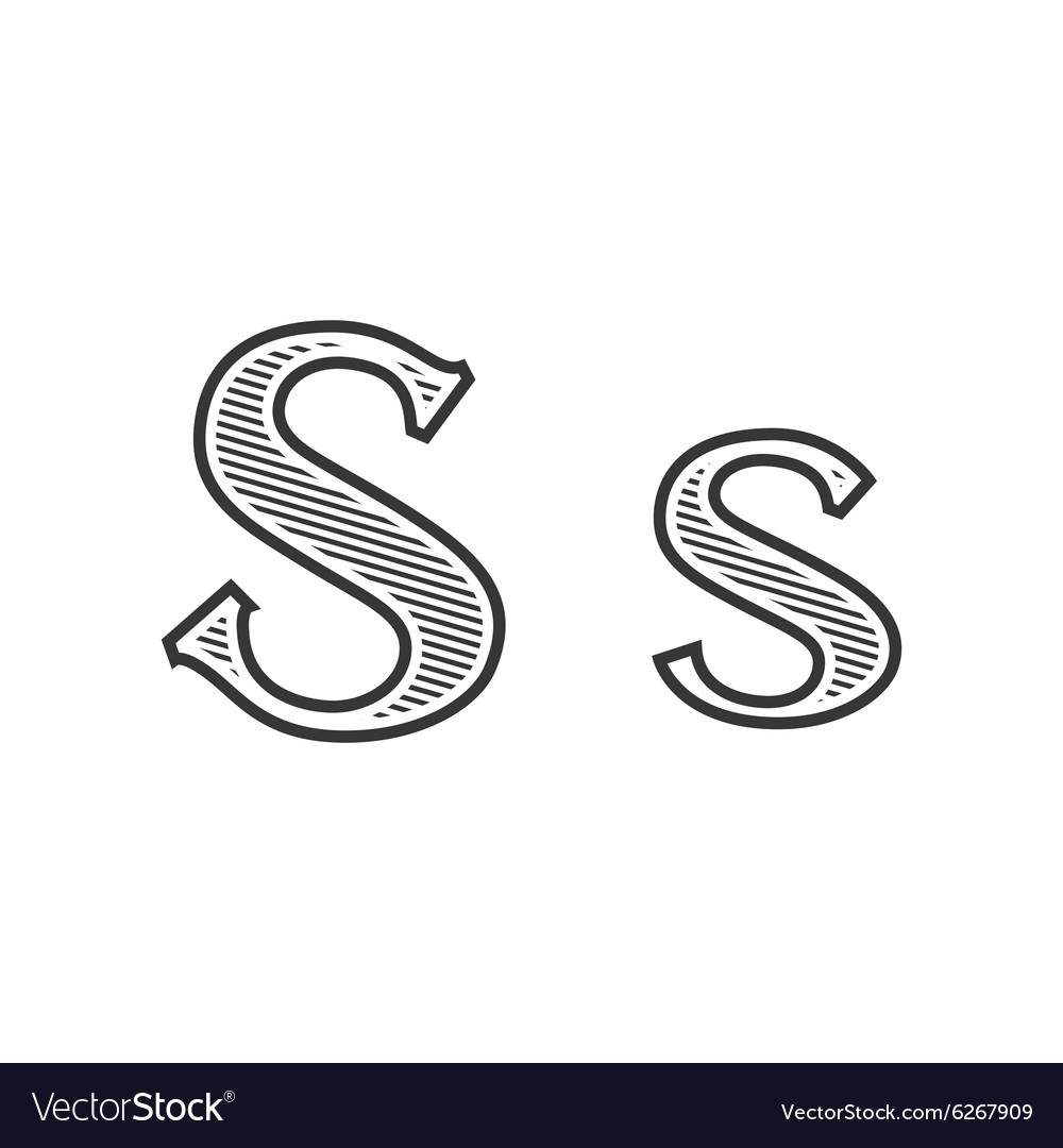 Font Tattoo Engraving Letter S With Shading