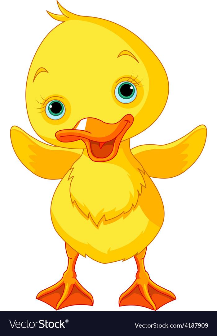 Happy Duckling vector image