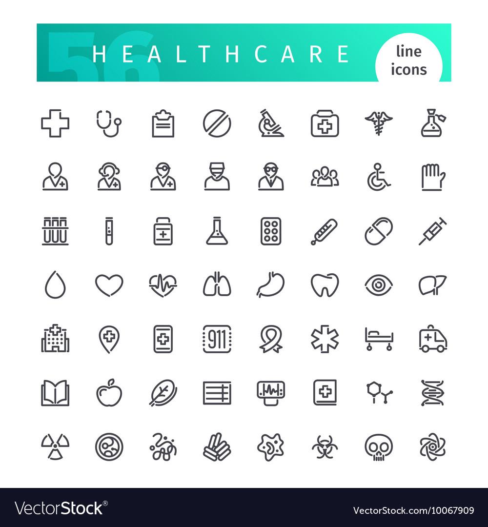 Healthcare Line Icons Set