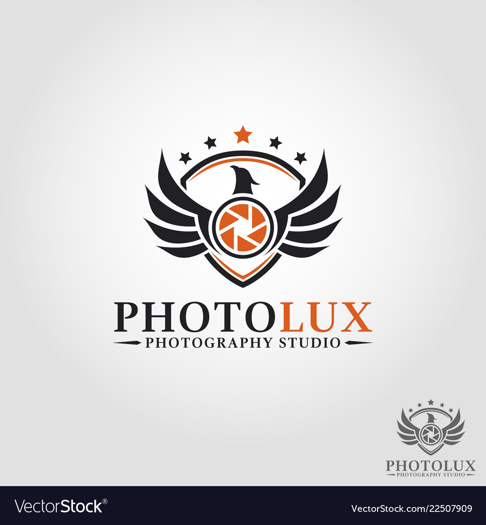 Luxury Photography Phoenix Studio Logo Camera Vector Image