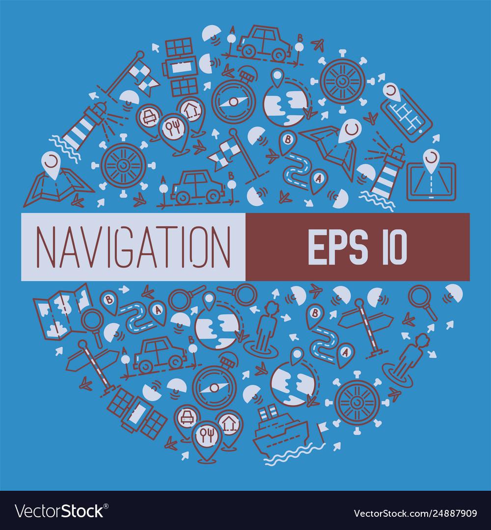 Navigation pattern travel map road location