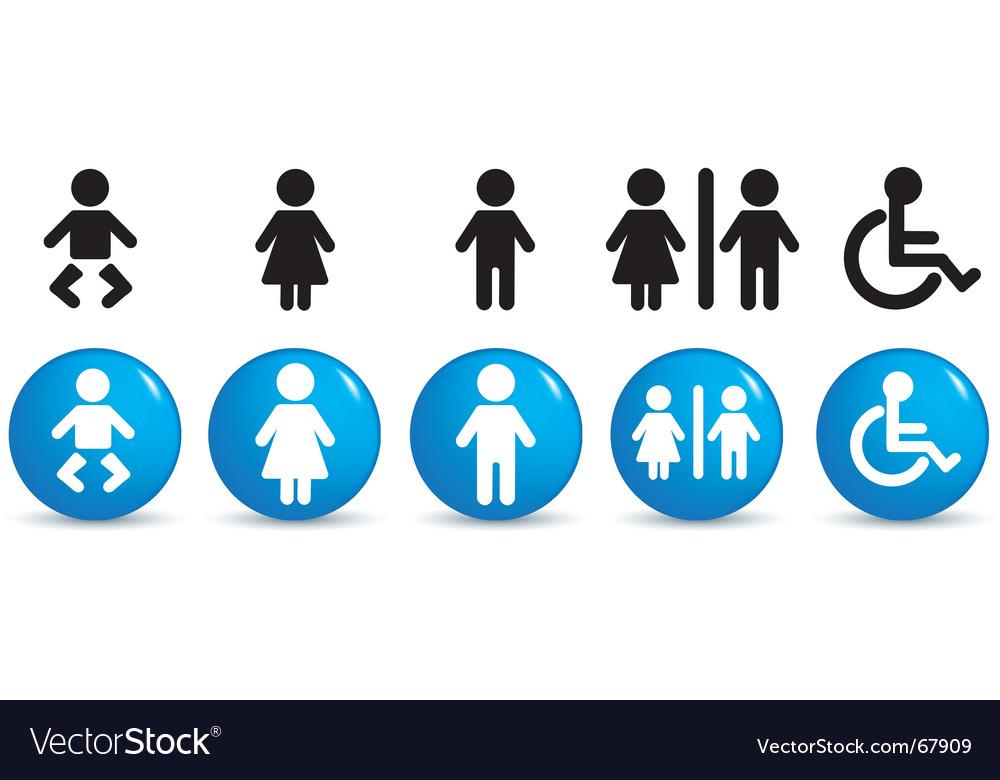 People symbols vector image