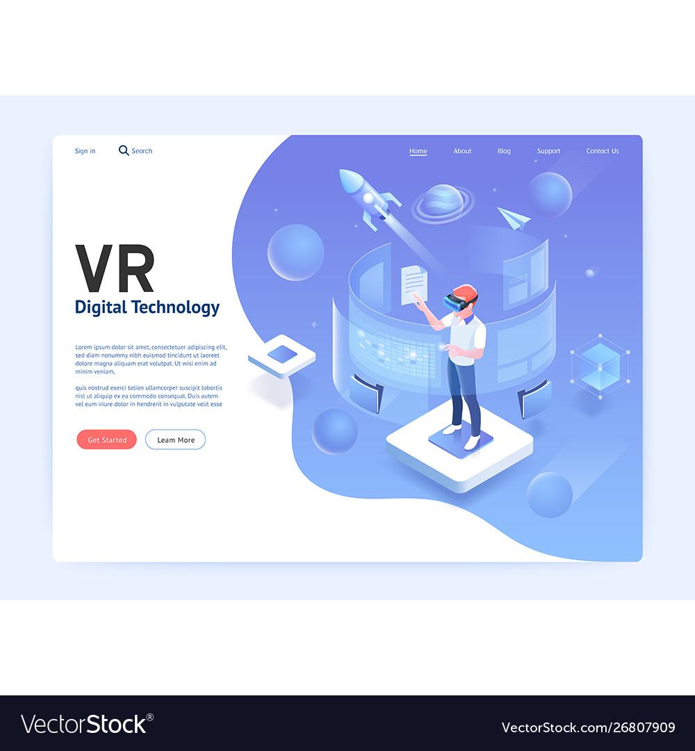 Virtual reality glasses digital technology