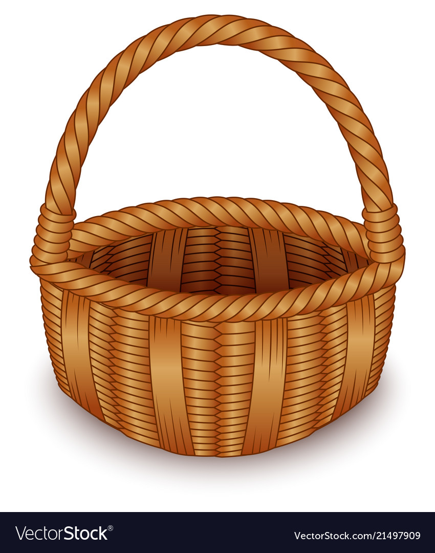 Wicker White Basket Background On QdoWCxBer
