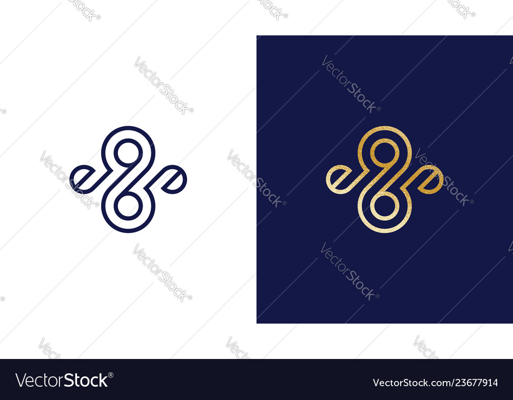 Abtract eight and nine logotype template positive