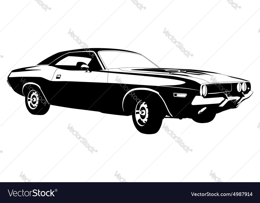 American Muscle Car Royalty Free Vector Image
