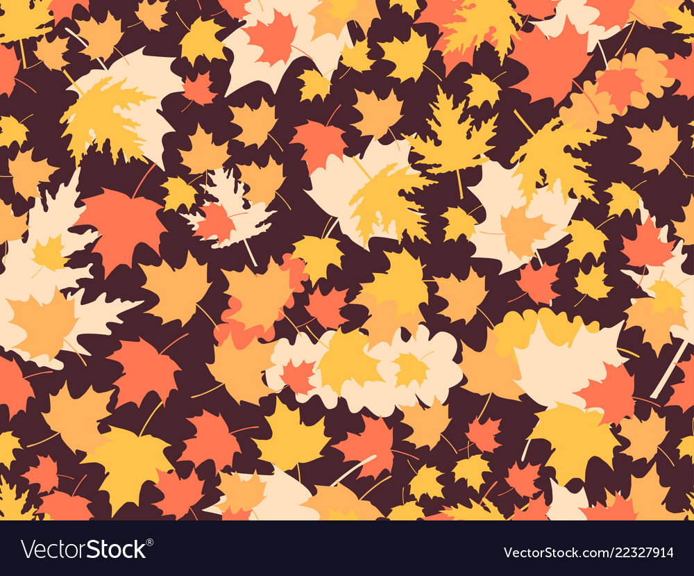 Autumn leaves seamless patterns oak leaves maple
