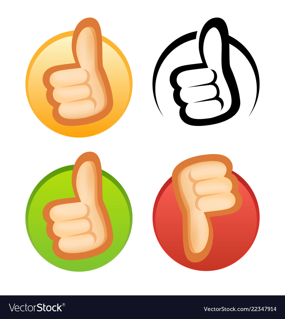 Beautiful style thumb up and down icons