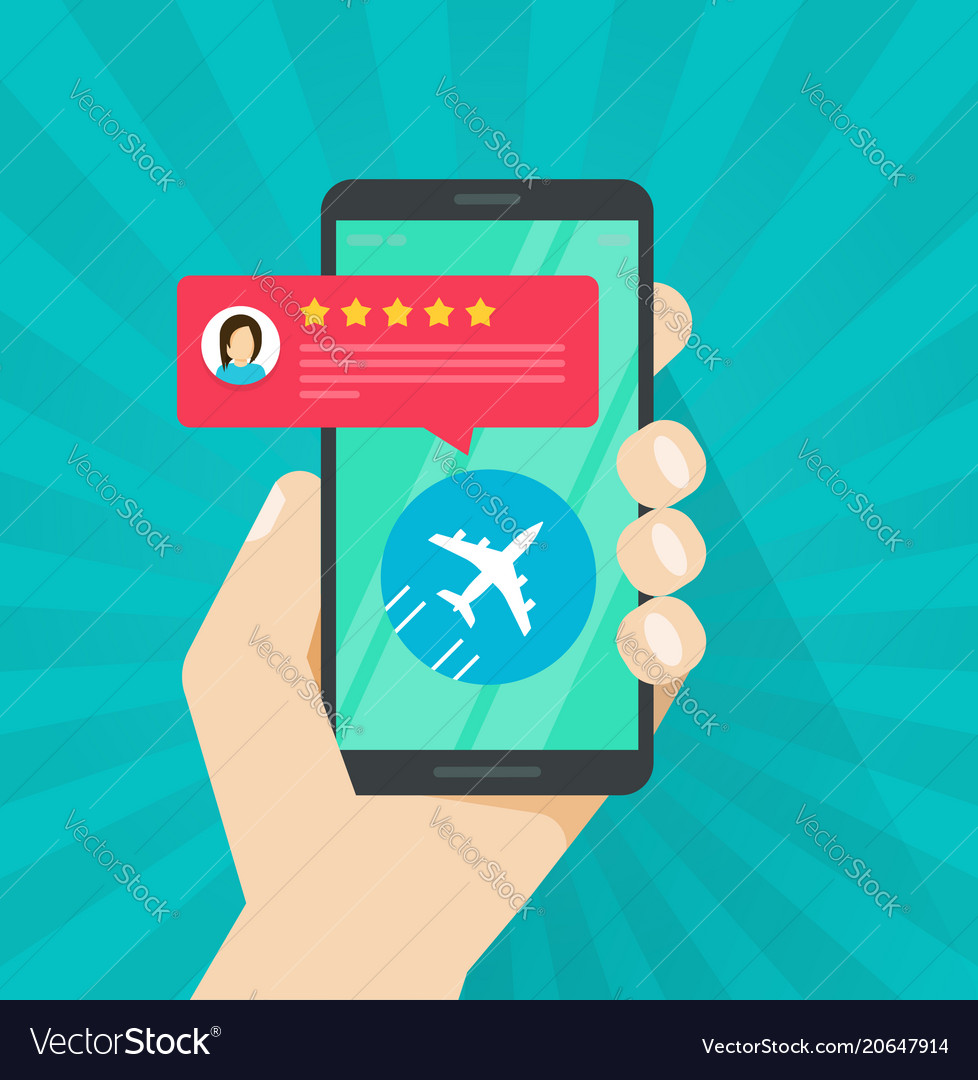 Flight review or feedback online from smartphone