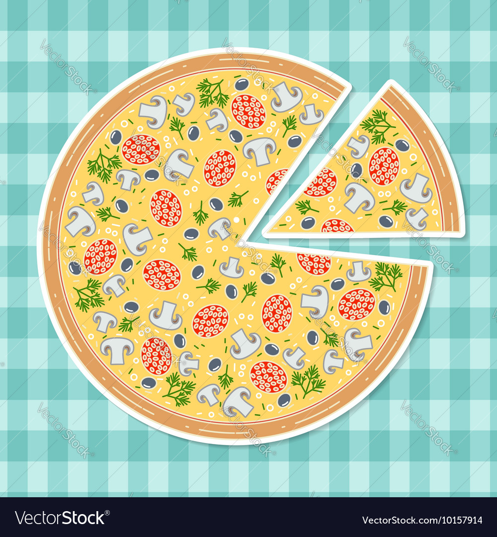 Pizza in flat style