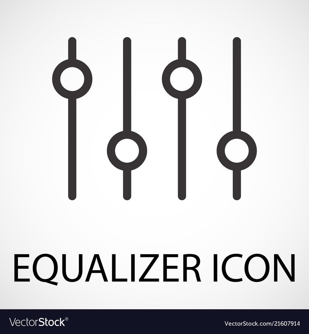 Simple equalizer icon