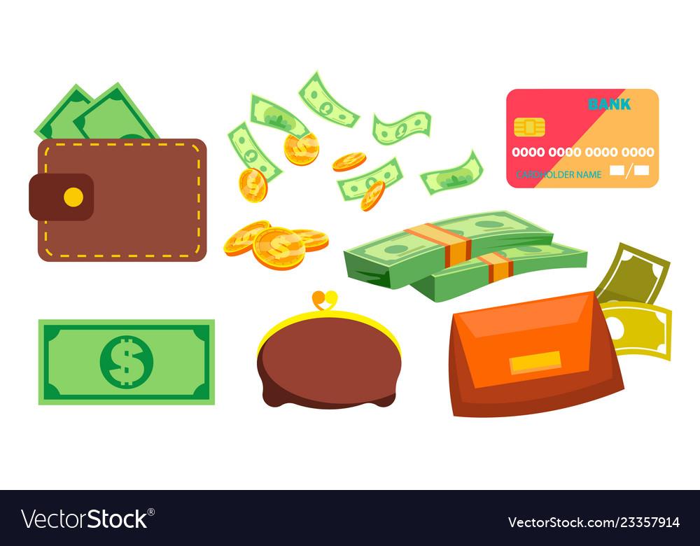 Wallet money coins purse bill online