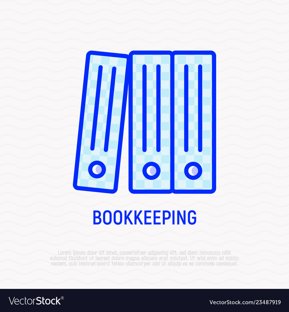 Bookkeeping symbol stack folders line icon
