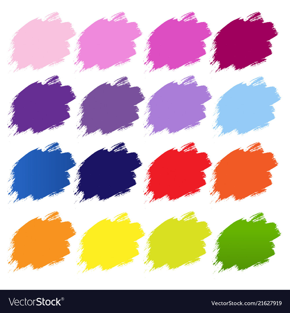 color blobs banner white background royalty free vector