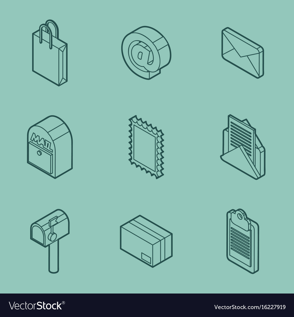 Delivery outline isometric set