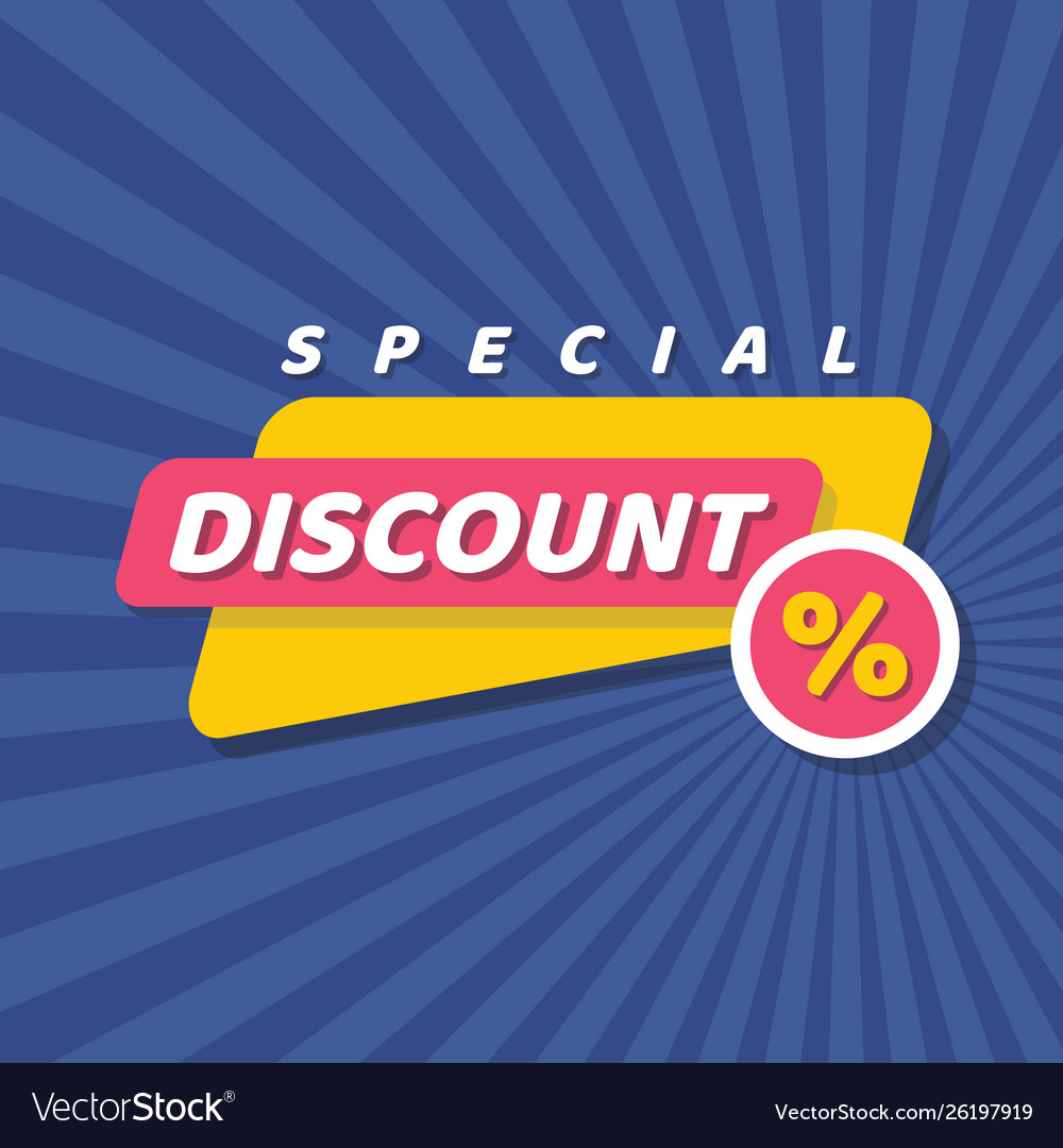 Discount special offer concept badge banner