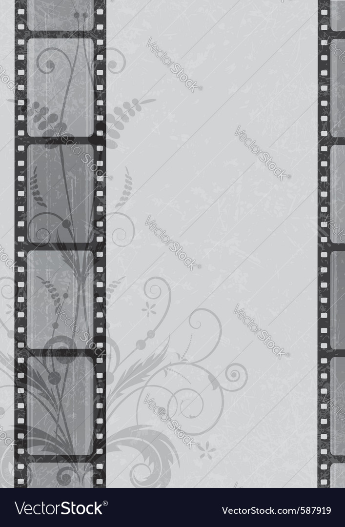 Film strip background vector image