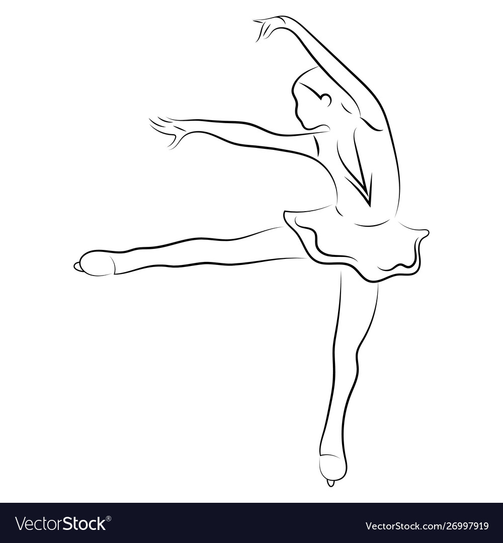Girl figure skater figure skating black and