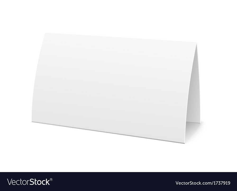 Paper table card sign template
