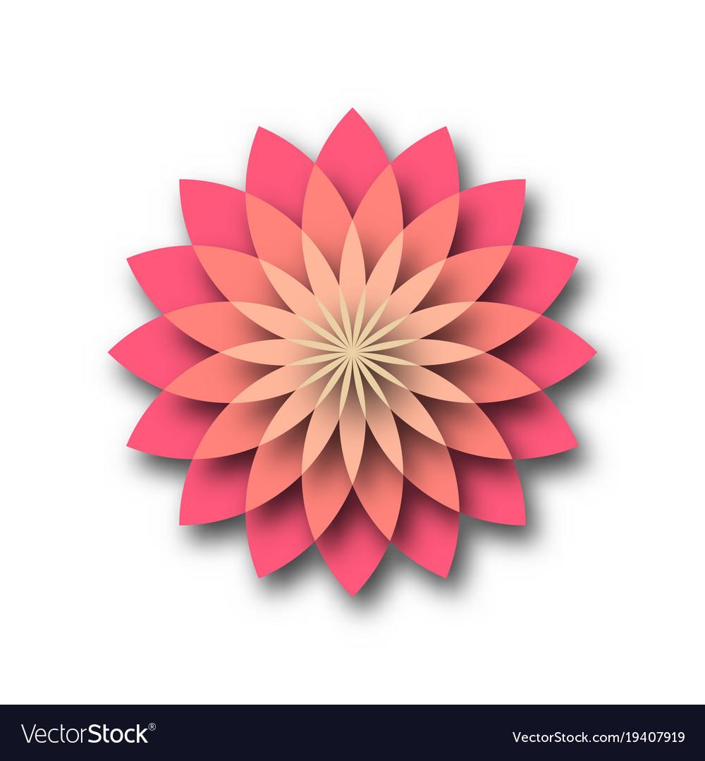 Pink lotus - symbol of yoga wellness beauty and