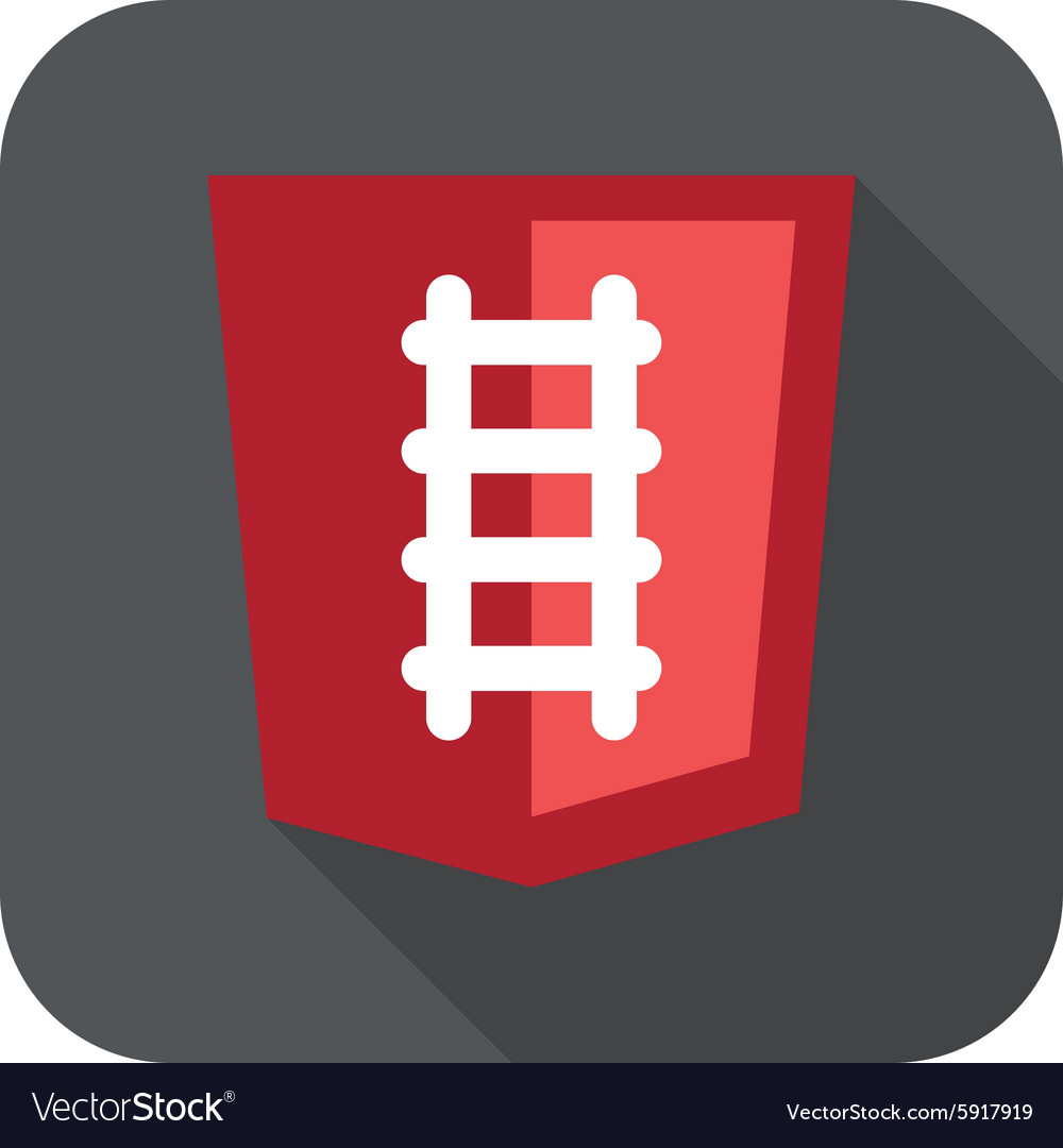 Ruby programming language web vector image