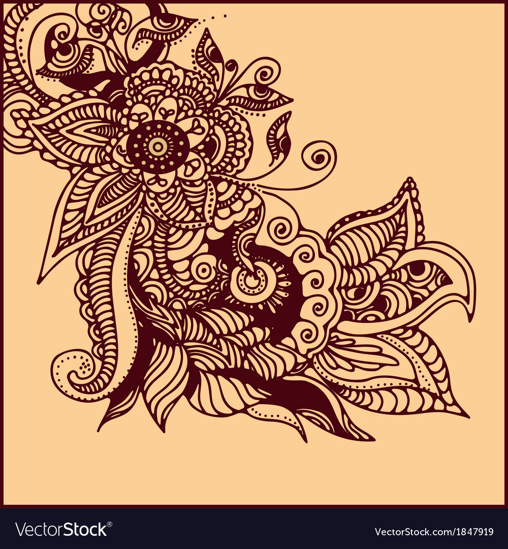 Tattoo Henna Royalty Free Vector Image Vectorstock