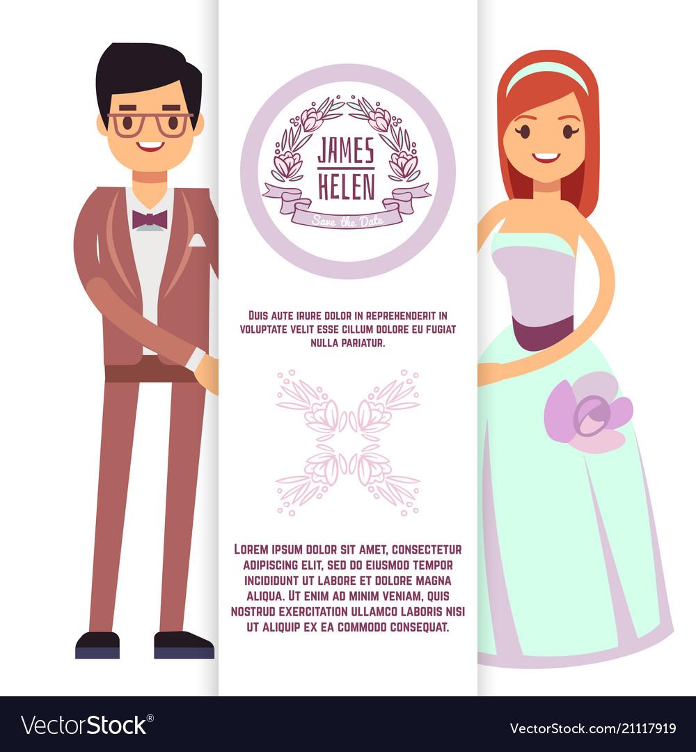 Vintage wedding flyer poster banner template