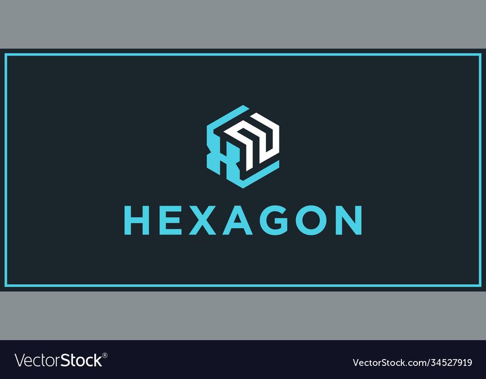 Xn hexagon logo design inspiration