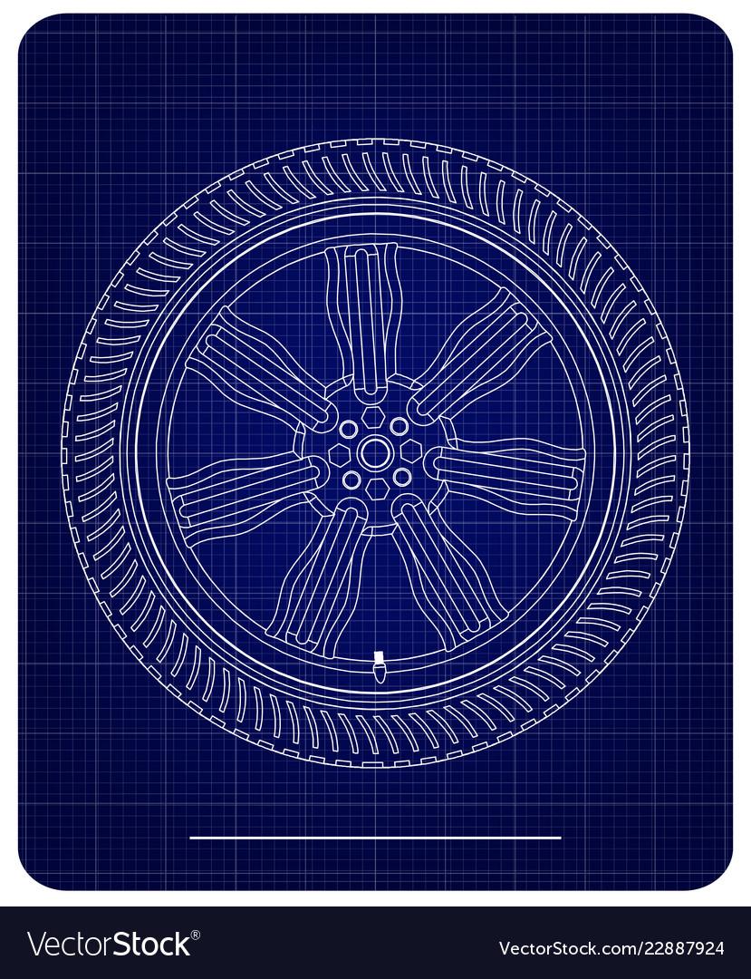 3d model of wheels on a blue