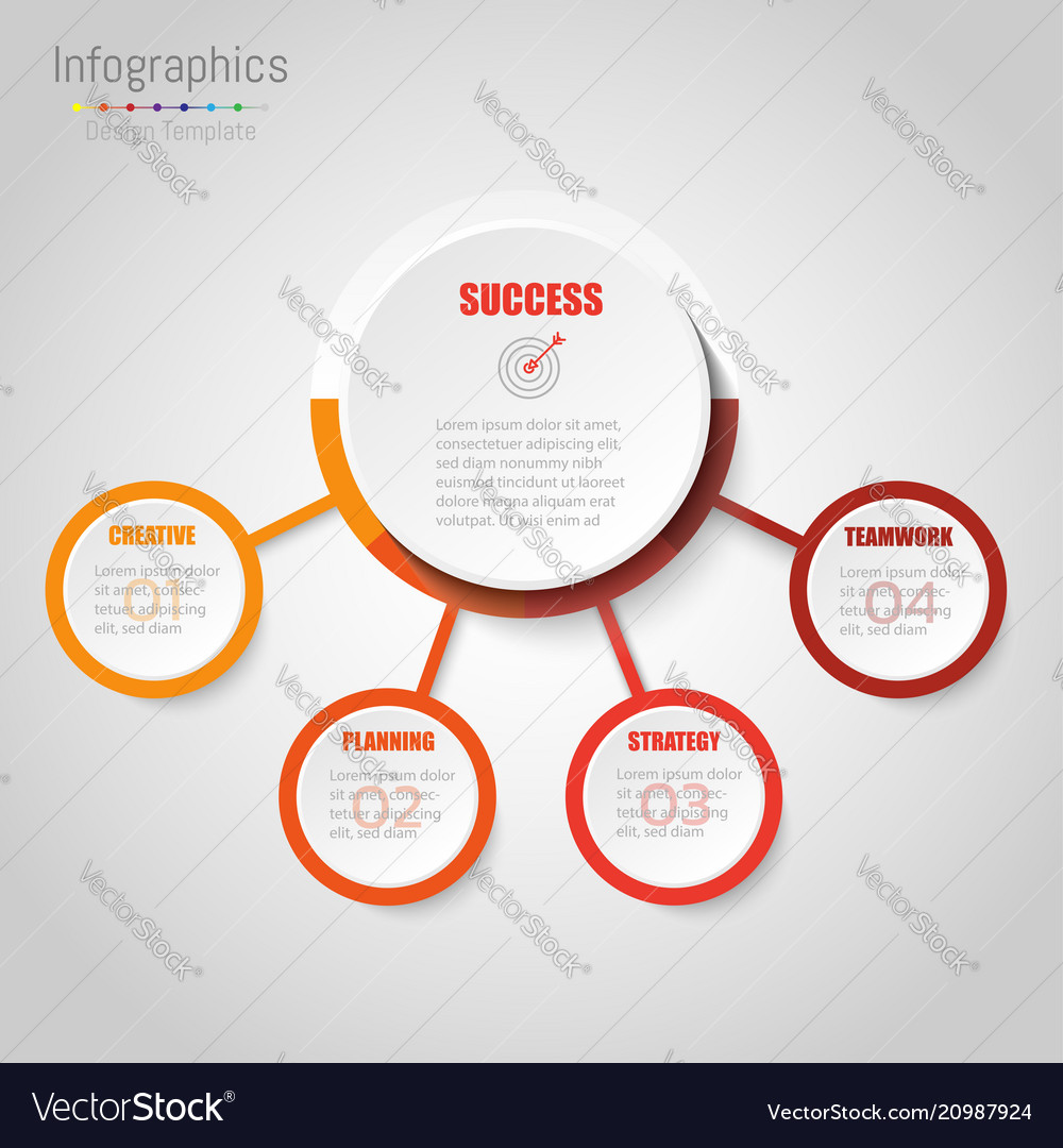 Abstract infographics business options template