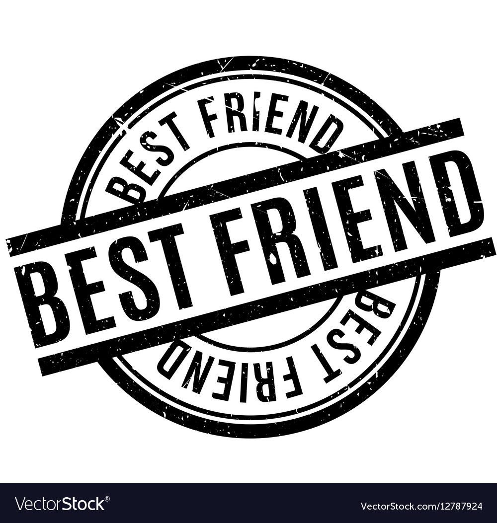 Best Friend Rubber Stamp Royalty Free Vector Image