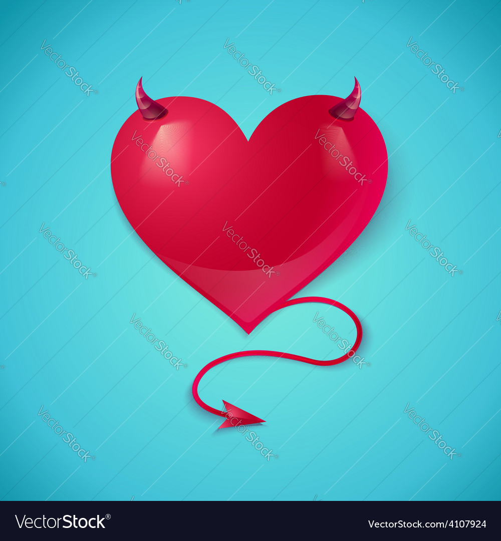devil heart royalty free vector image vectorstock