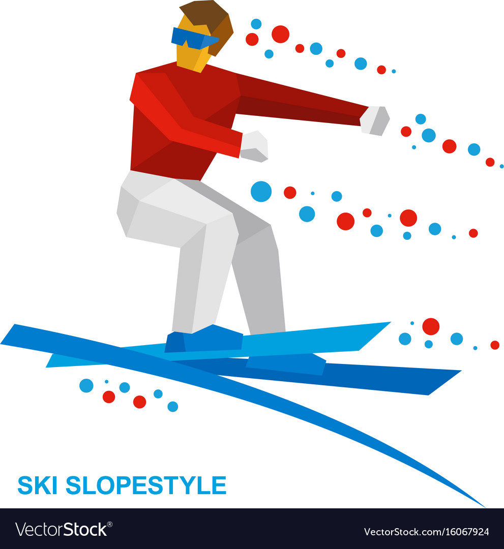 Freestyle skier jumps