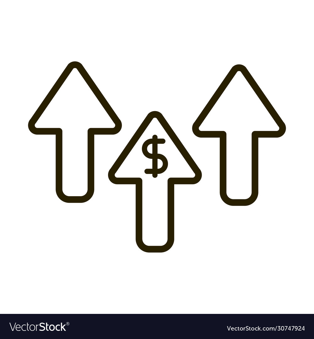 Increase arrows money business financial investing