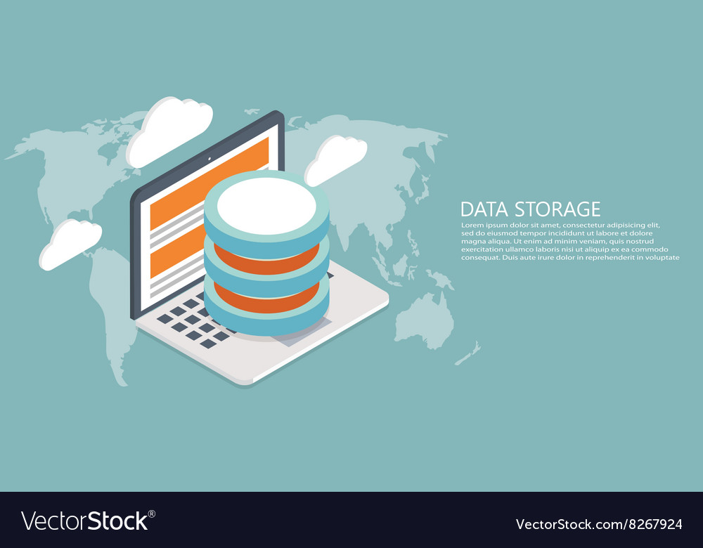 Modern flat isometric global data