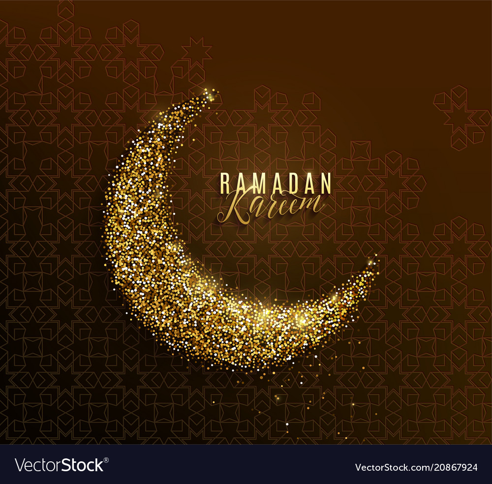 Ramadan kareem greeting concept islamic crescent