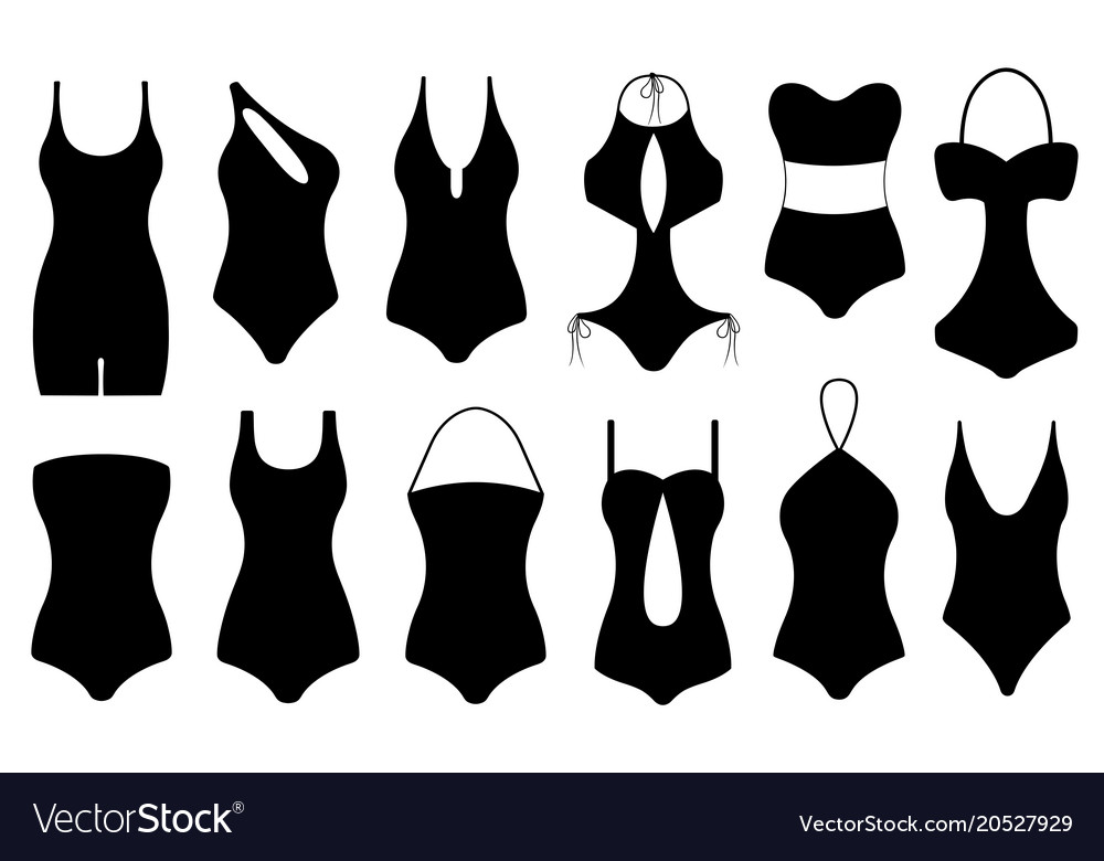 Different swimsuits vector image