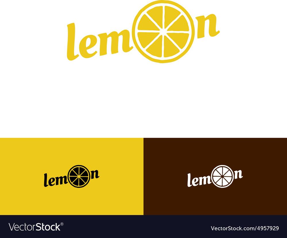 Lemon word logo vector image