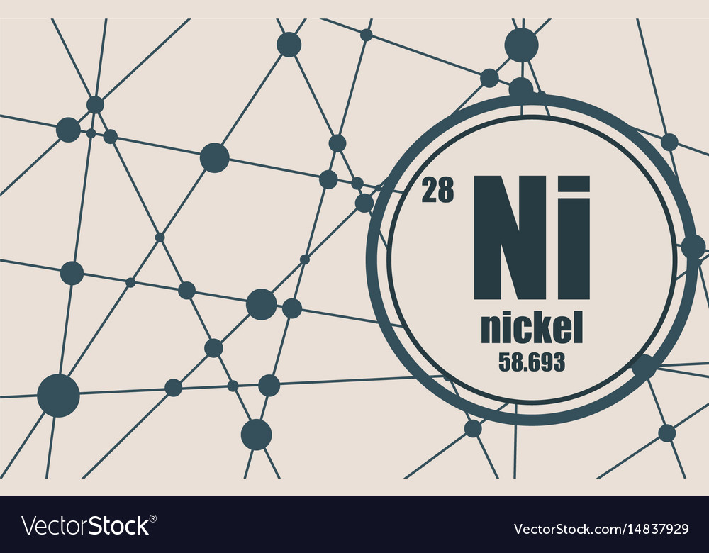 Nickel Chemical Element Royalty Free Vector Image
