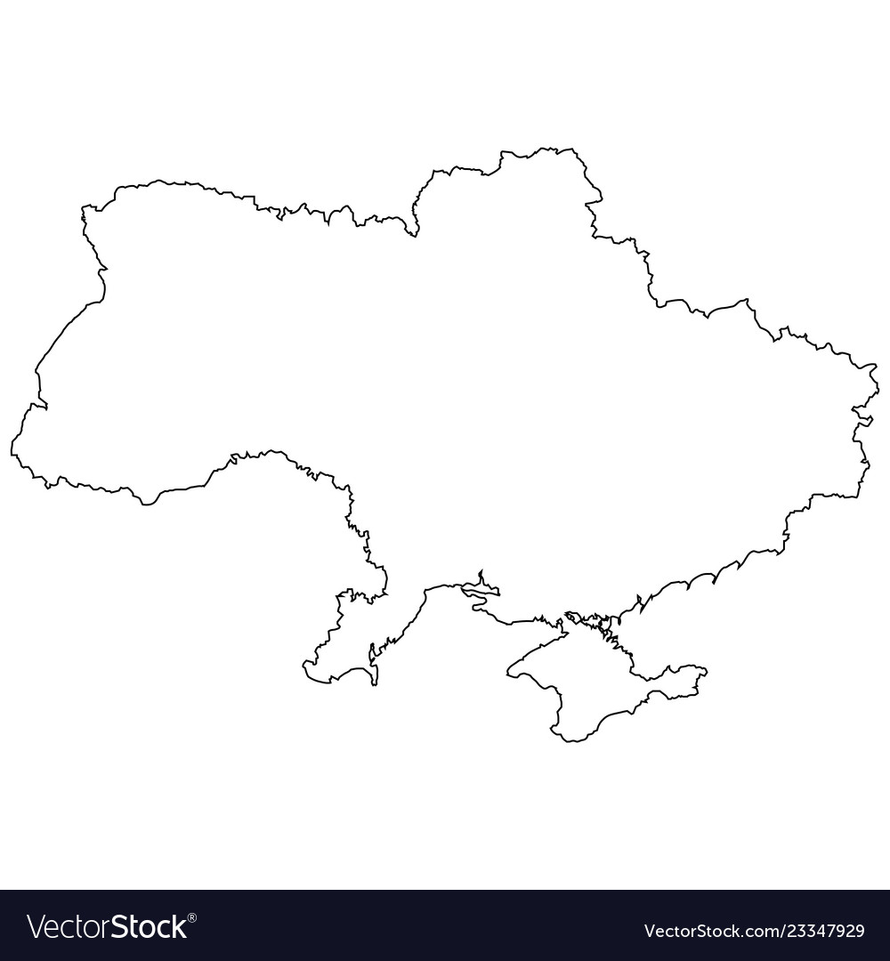Outline country state ukraine