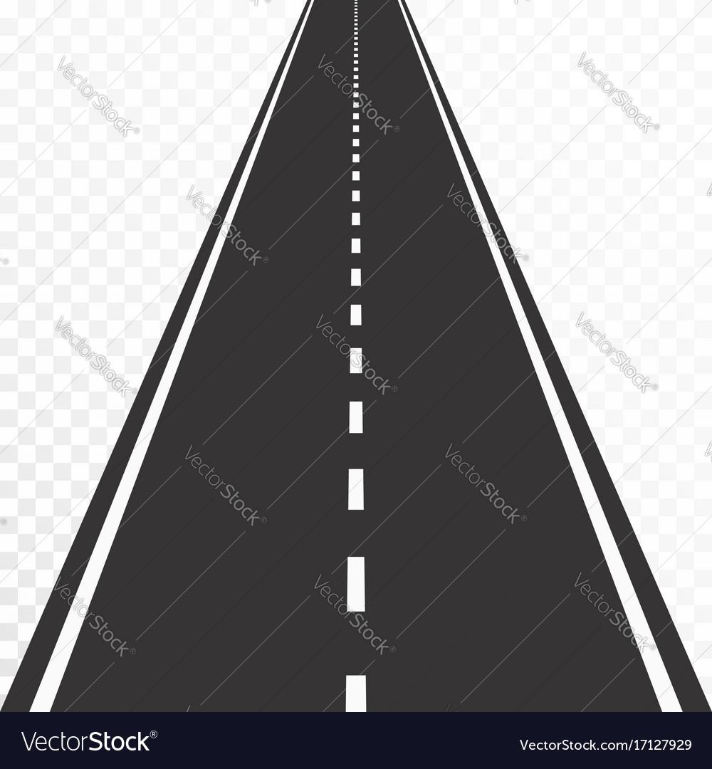 Road with markings straight asphalt road in vector image