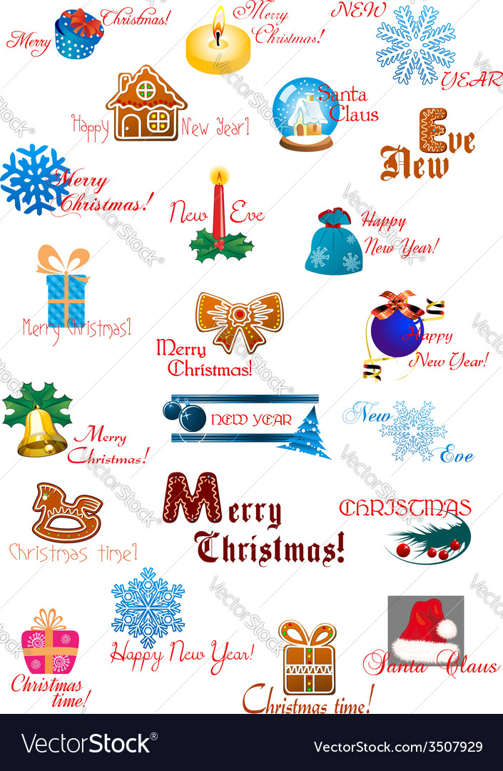 Traditional Christmas decoration collection