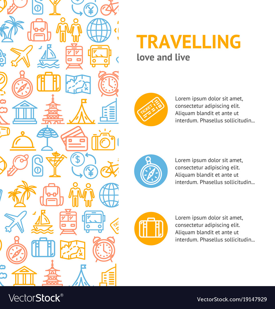 Travel and tourism concept infographics banner