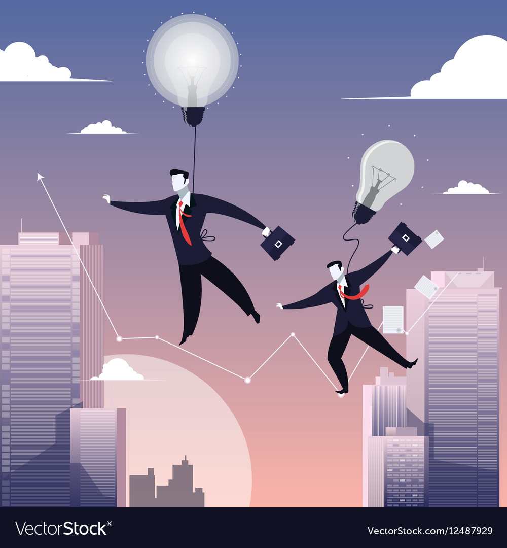 Two businessmen walking on