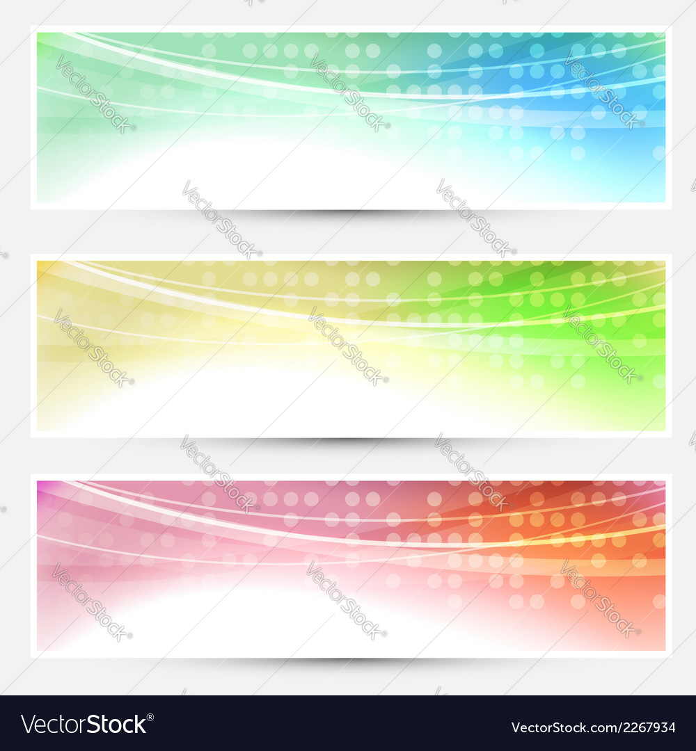 Abstract bright colorful banners set - web vector image