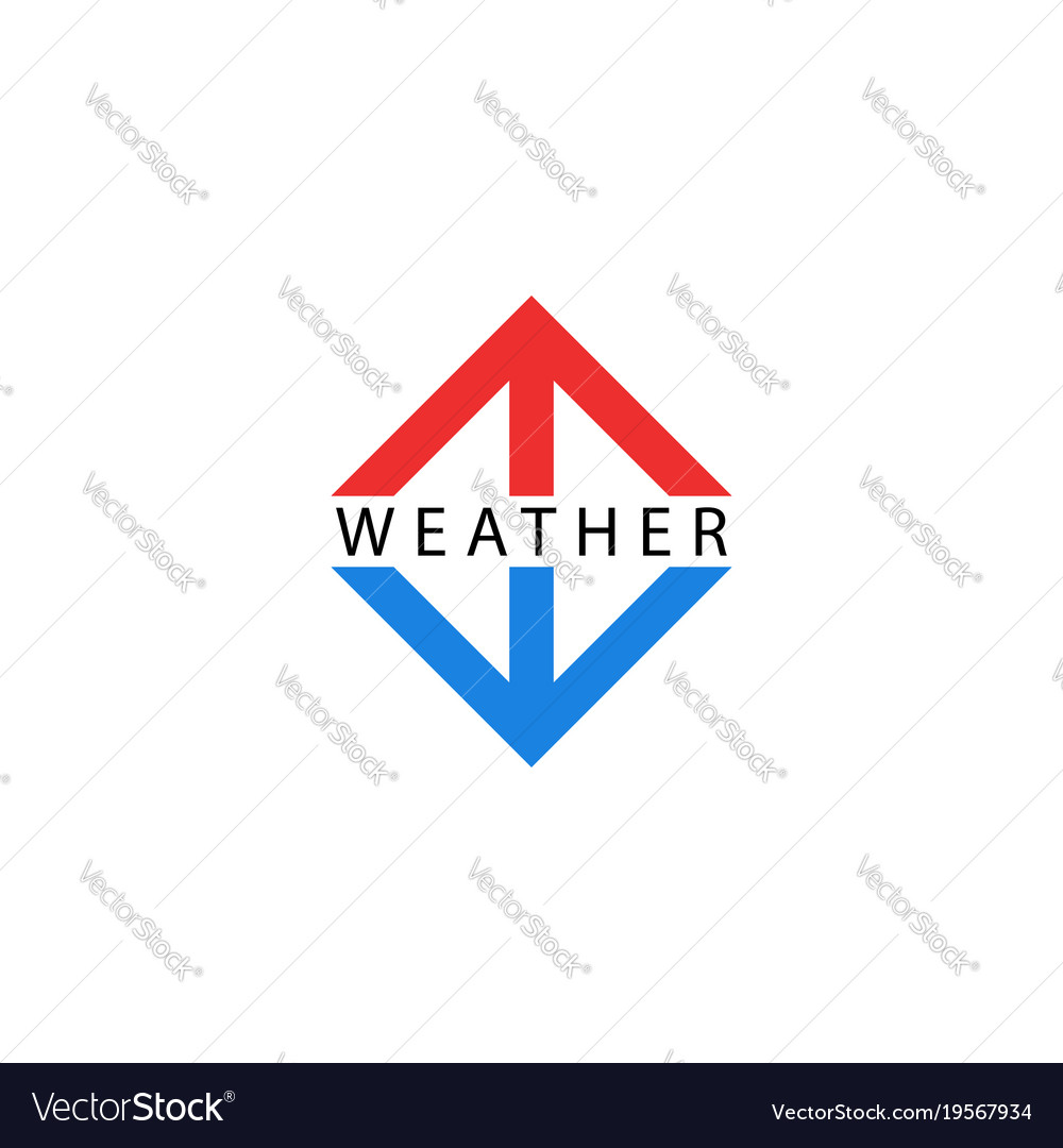 Arrows Logo Pointing Up And Down Symbols Of Vector Image